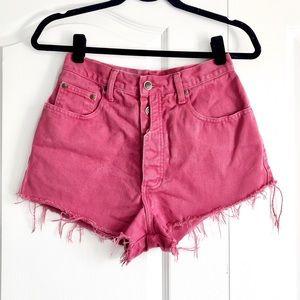 Vintage Cranberry High Waisted Denim Jean Shorts